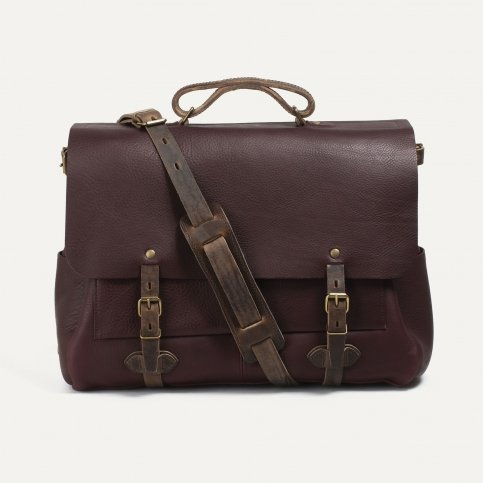 48h Irving Executive Postman bag - Peat