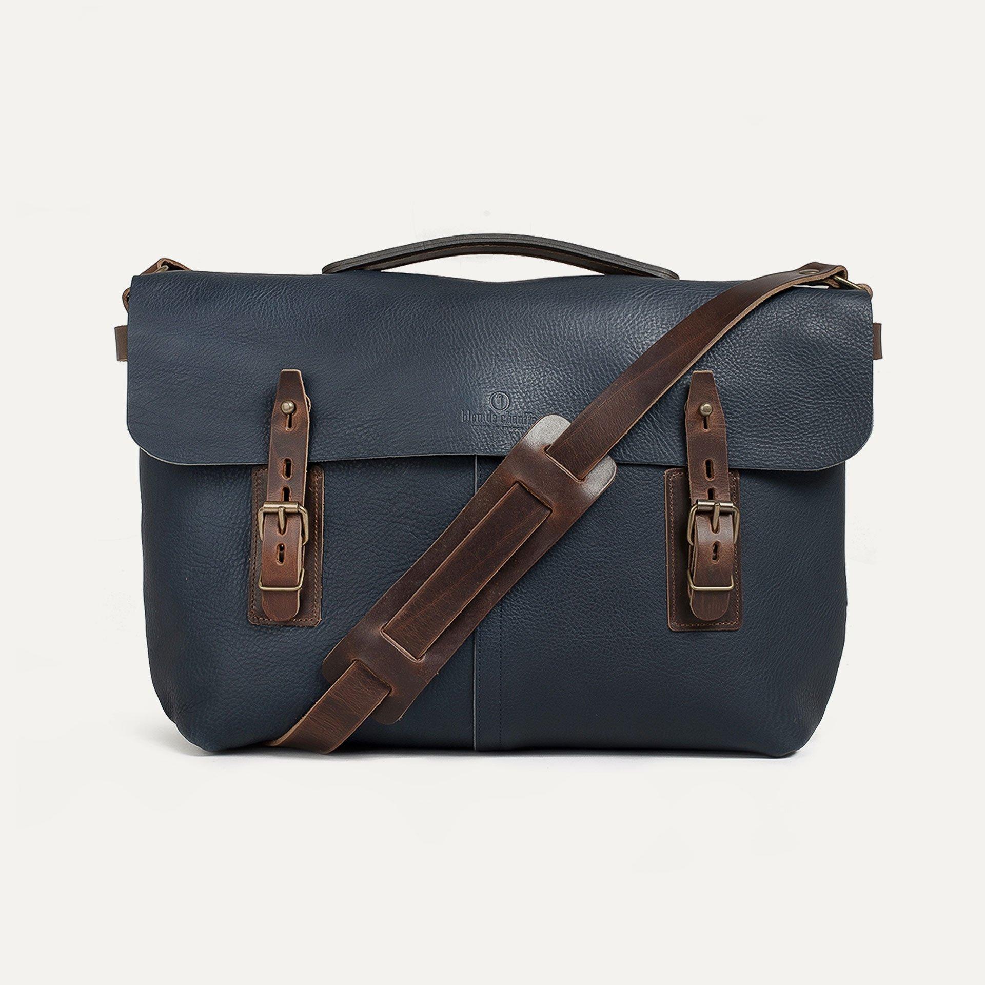 Lucien Satchel bag - Navy Blue (image n°1)