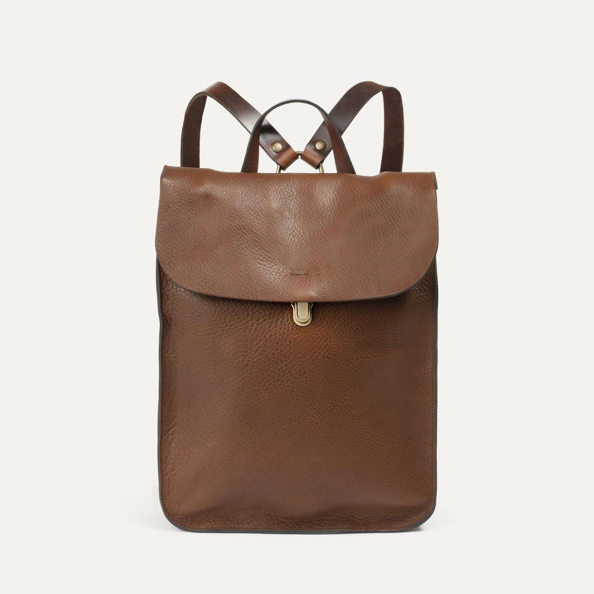 Puncho leather backpack - Cuba Libre / E Pure (image n°1)