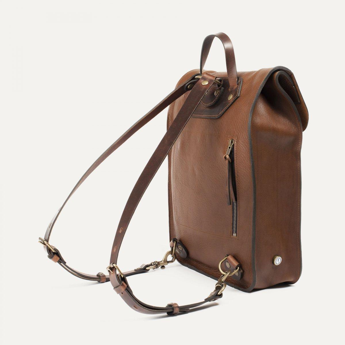 Puncho leather backpack - Cuba Libre / E Pure (image n°3)