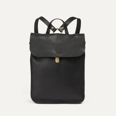 Puncho leather backpack - Black