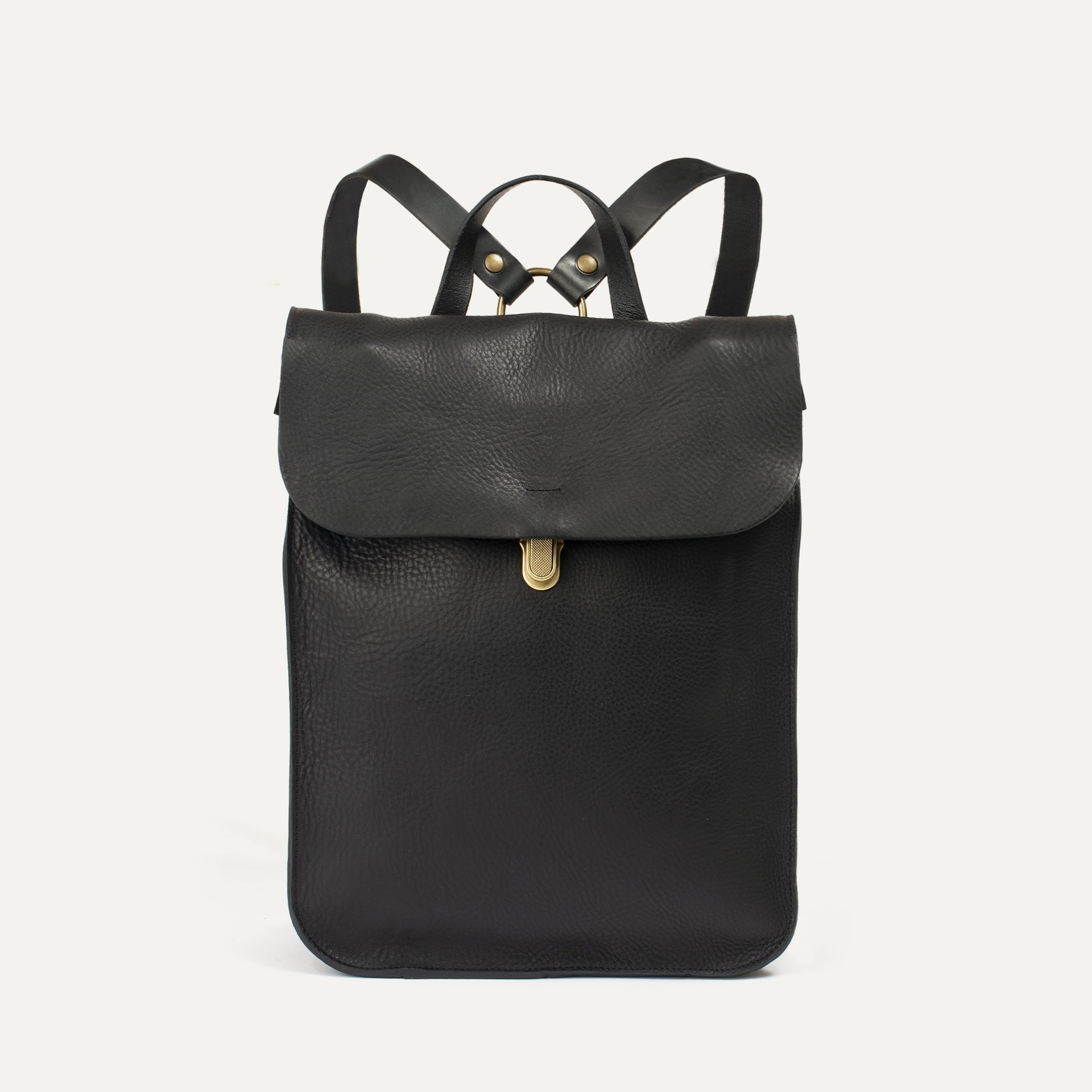 Puncho leather backpack - Black / E Pure (image n°1)