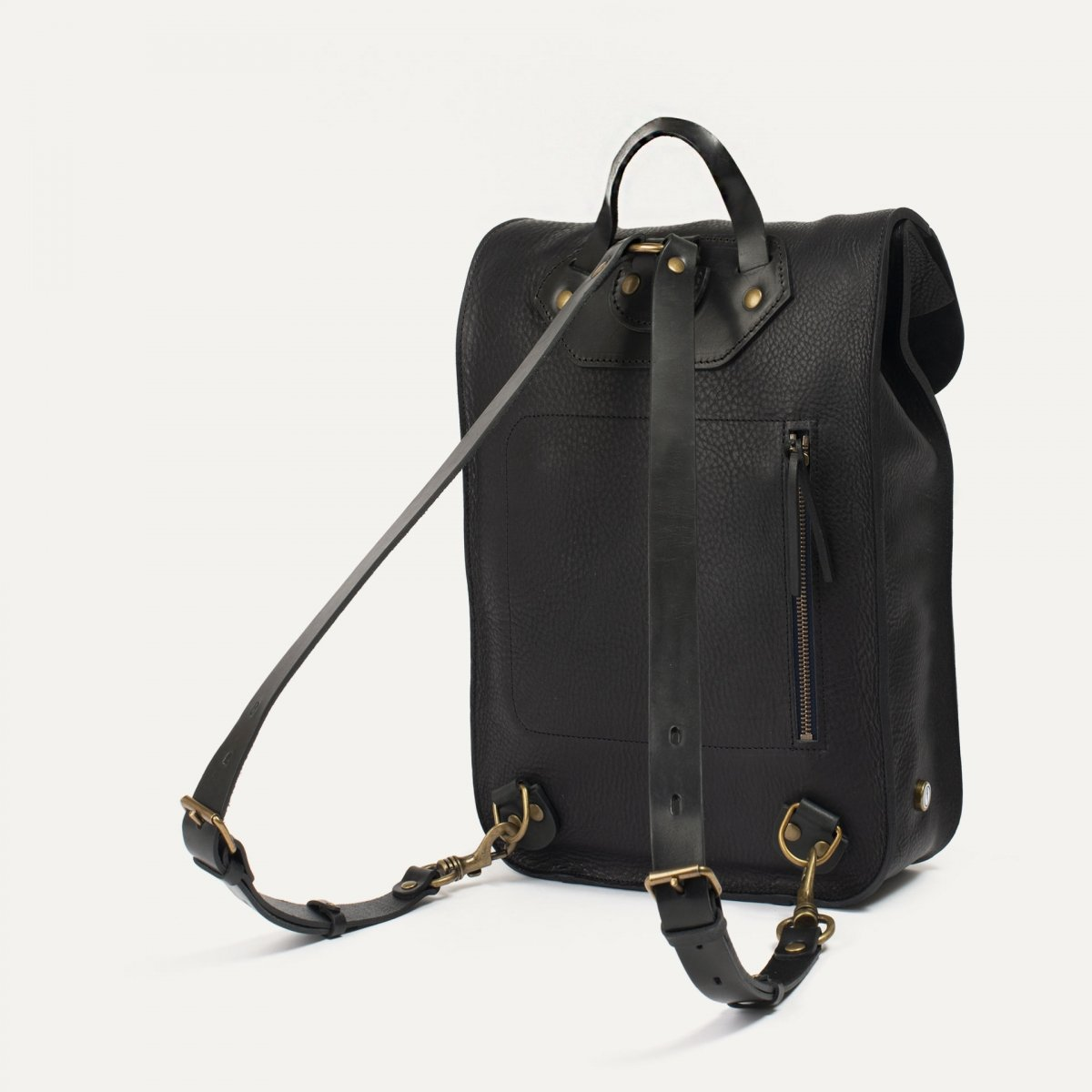 Puncho leather backpack - Black / E Pure (image n°2)