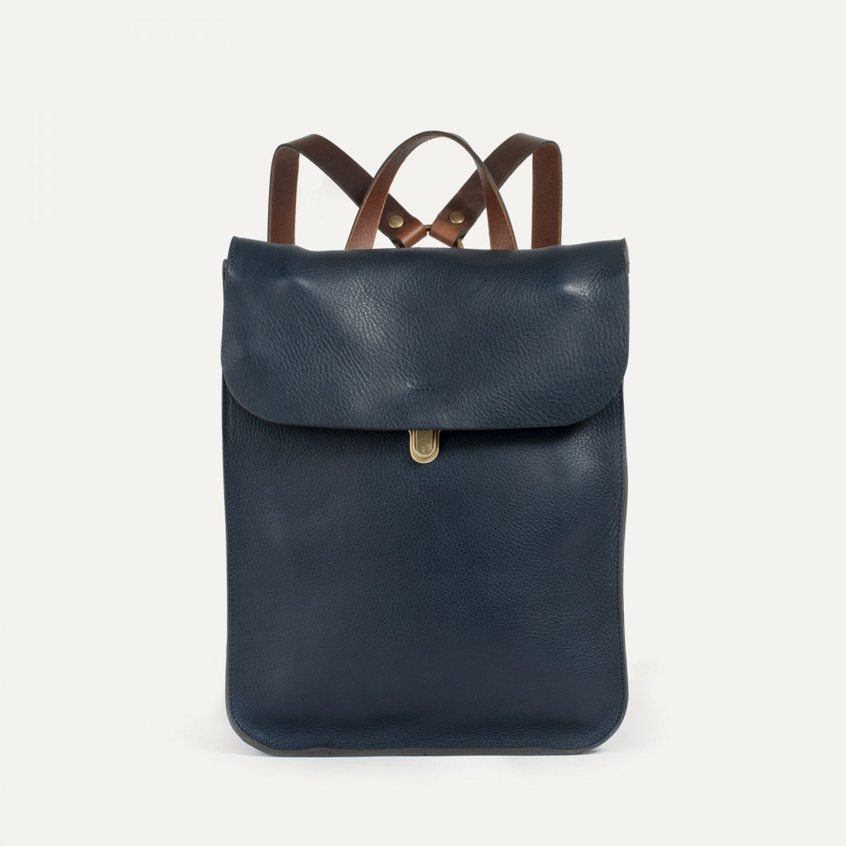 Puncho leather backpack - Navy Blue / E Pure (image n°1)