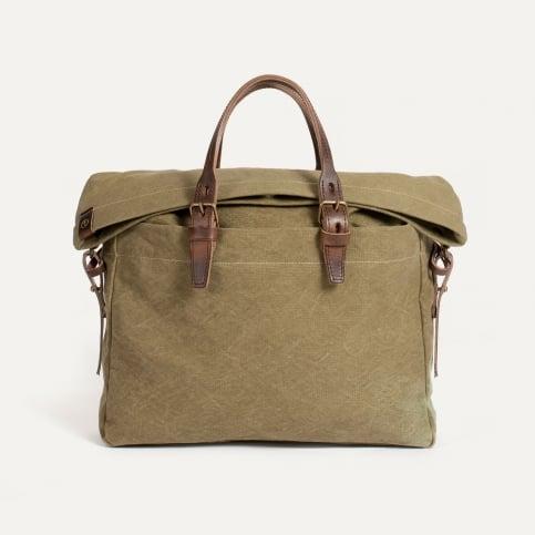 Remix business bag - Khaki stonewashed