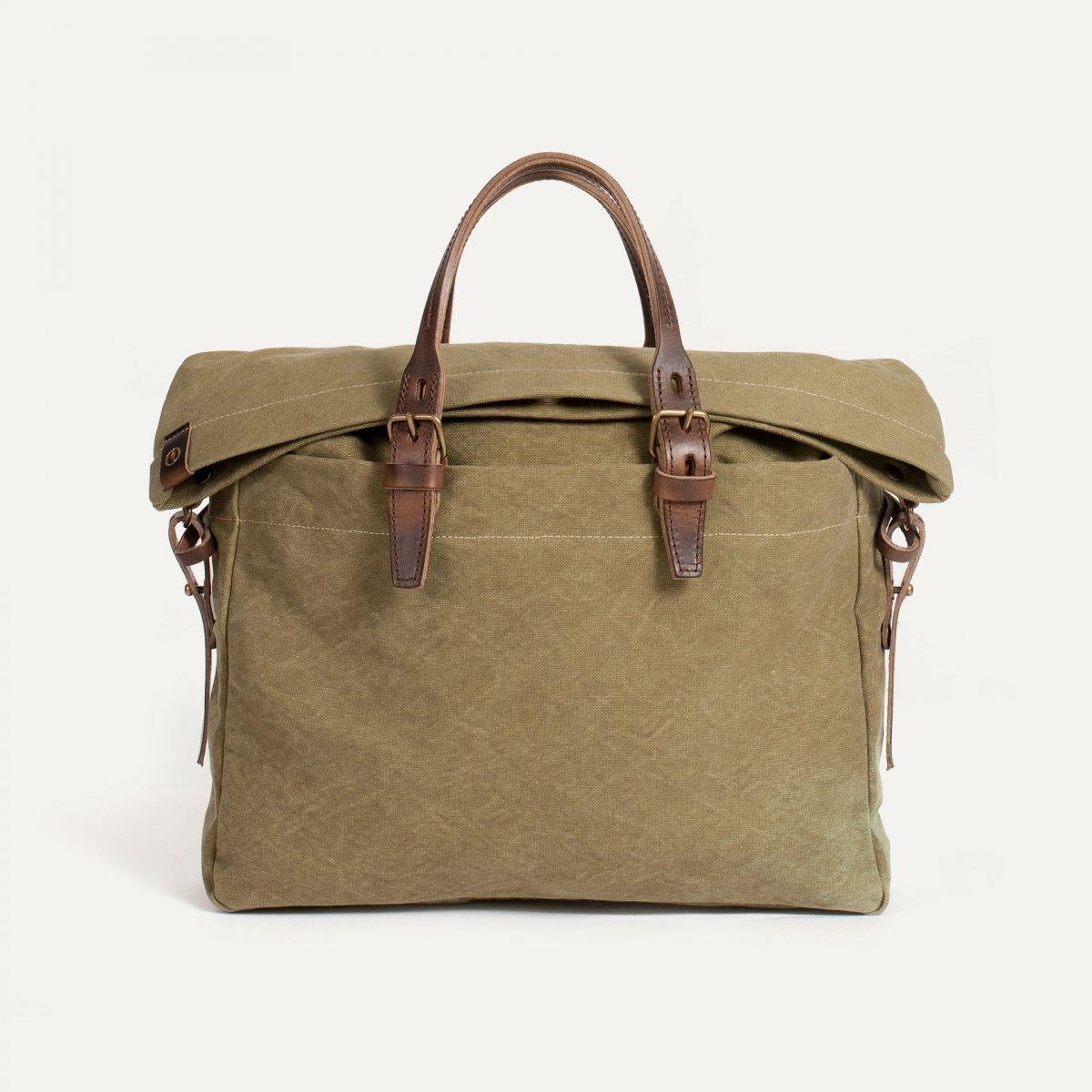 Remix business bag - Khaki stonewashed (image n°1)