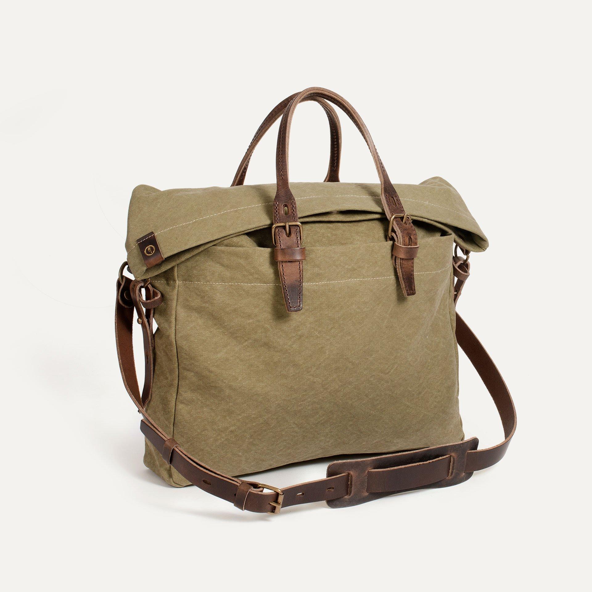 Remix business bag - Khaki stonewashed (image n°2)