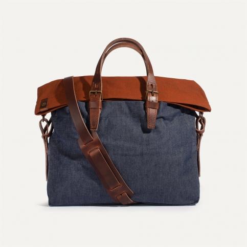 Remix business bag - Denim/Terra cotta