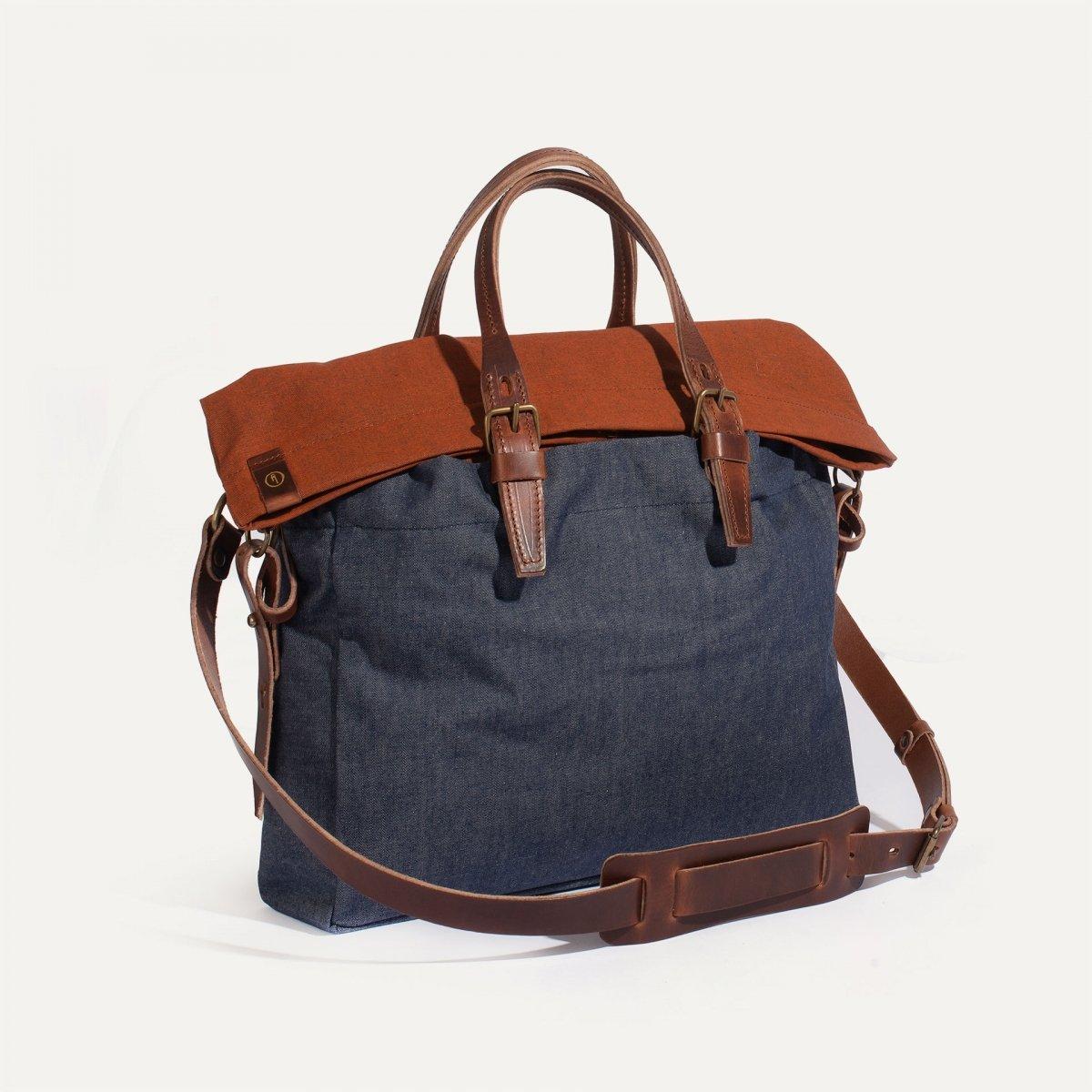 Remix business bag - Denim/Terra cotta (image n°2)