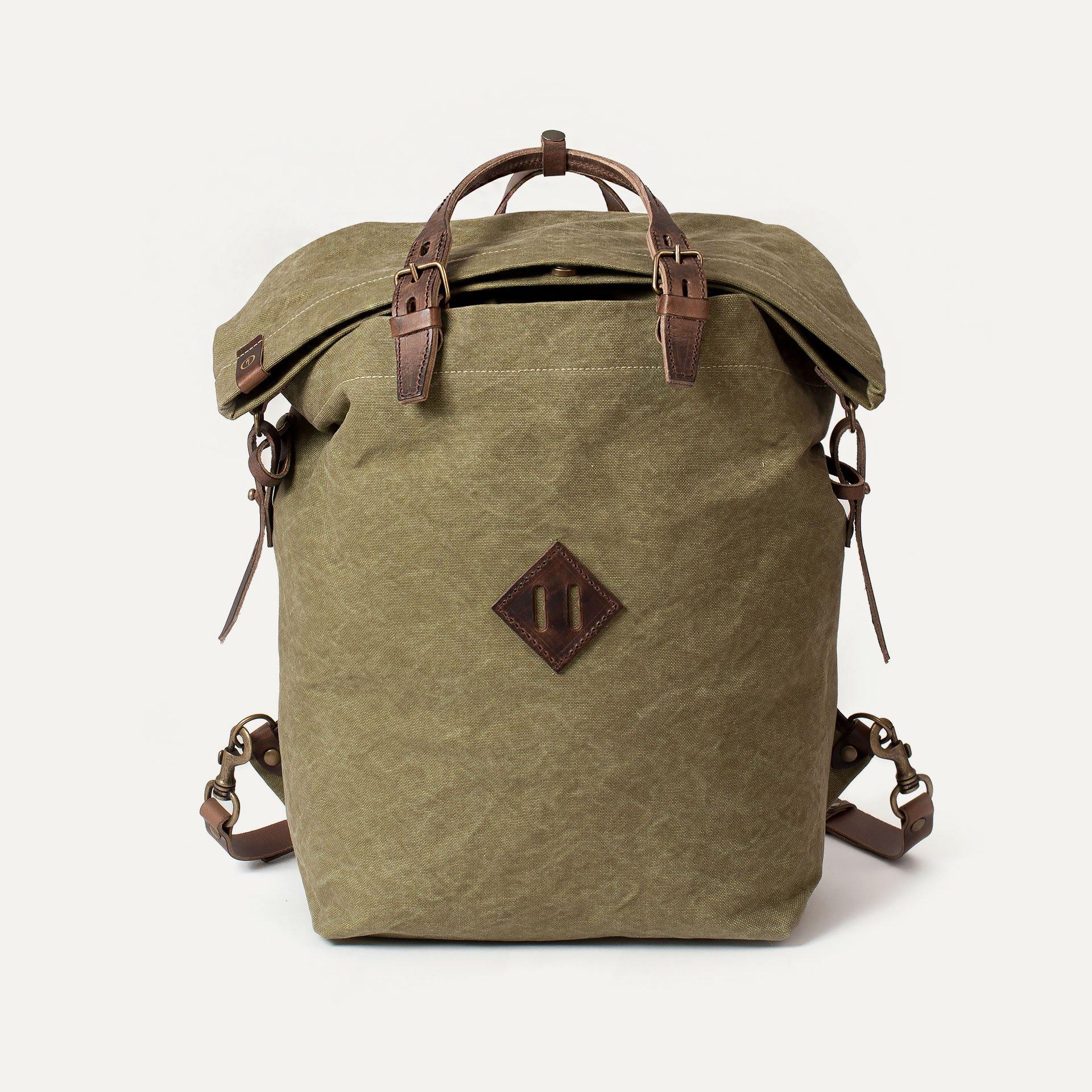 Woody M Backpack - Khaki stonewashed (image n°1)