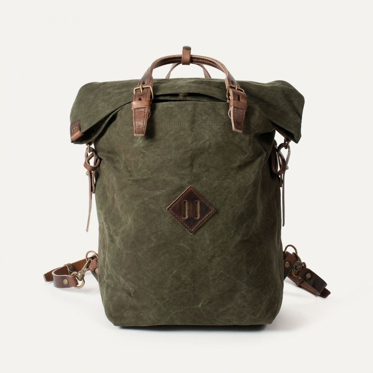 Woody M Backpack - Dark Khaki (image n°1)