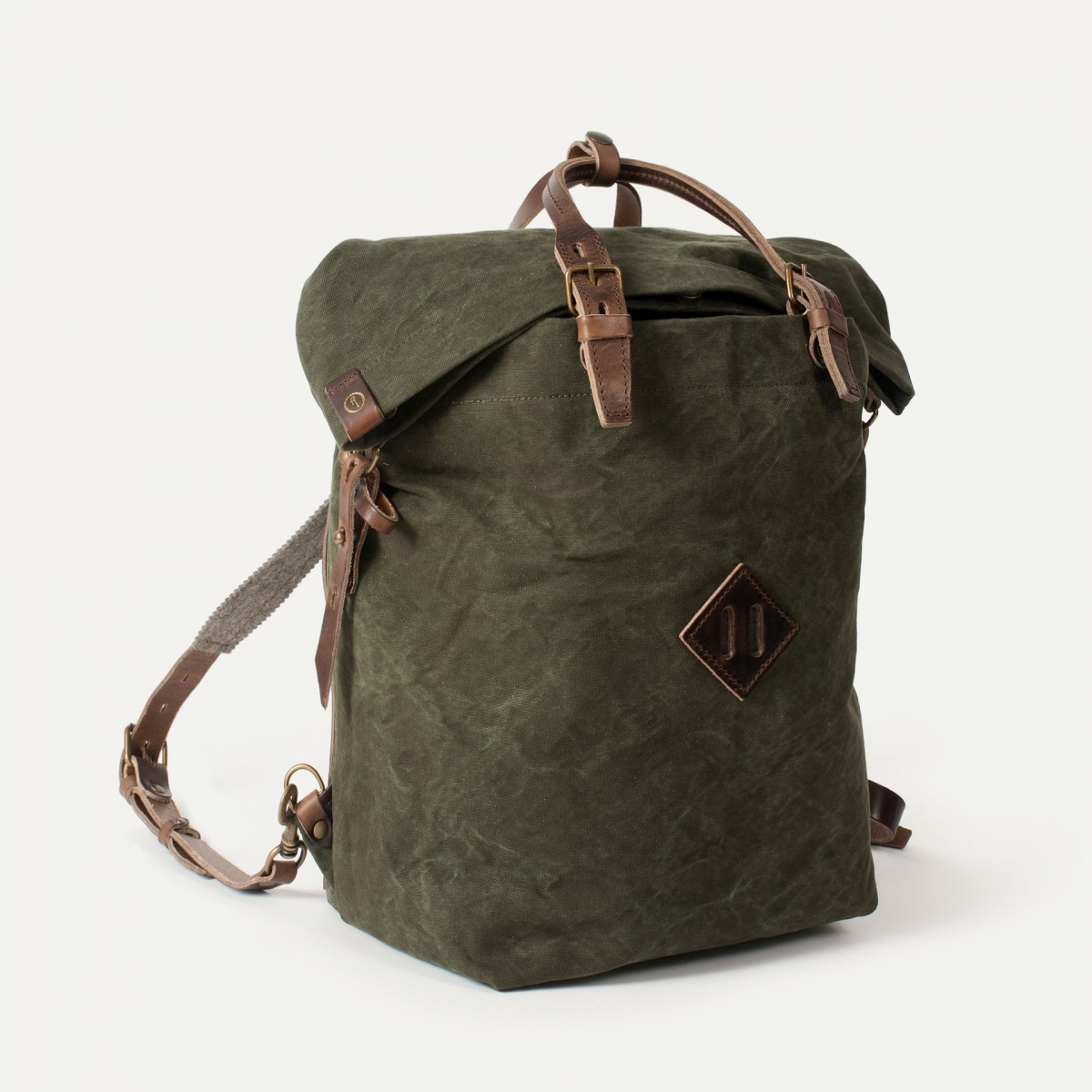 Woody M Backpack - Dark Khaki (image n°2)