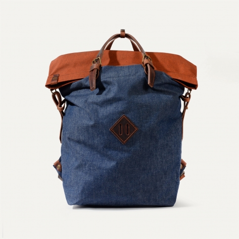 Woody M Backpack - Denim/Terra cotta