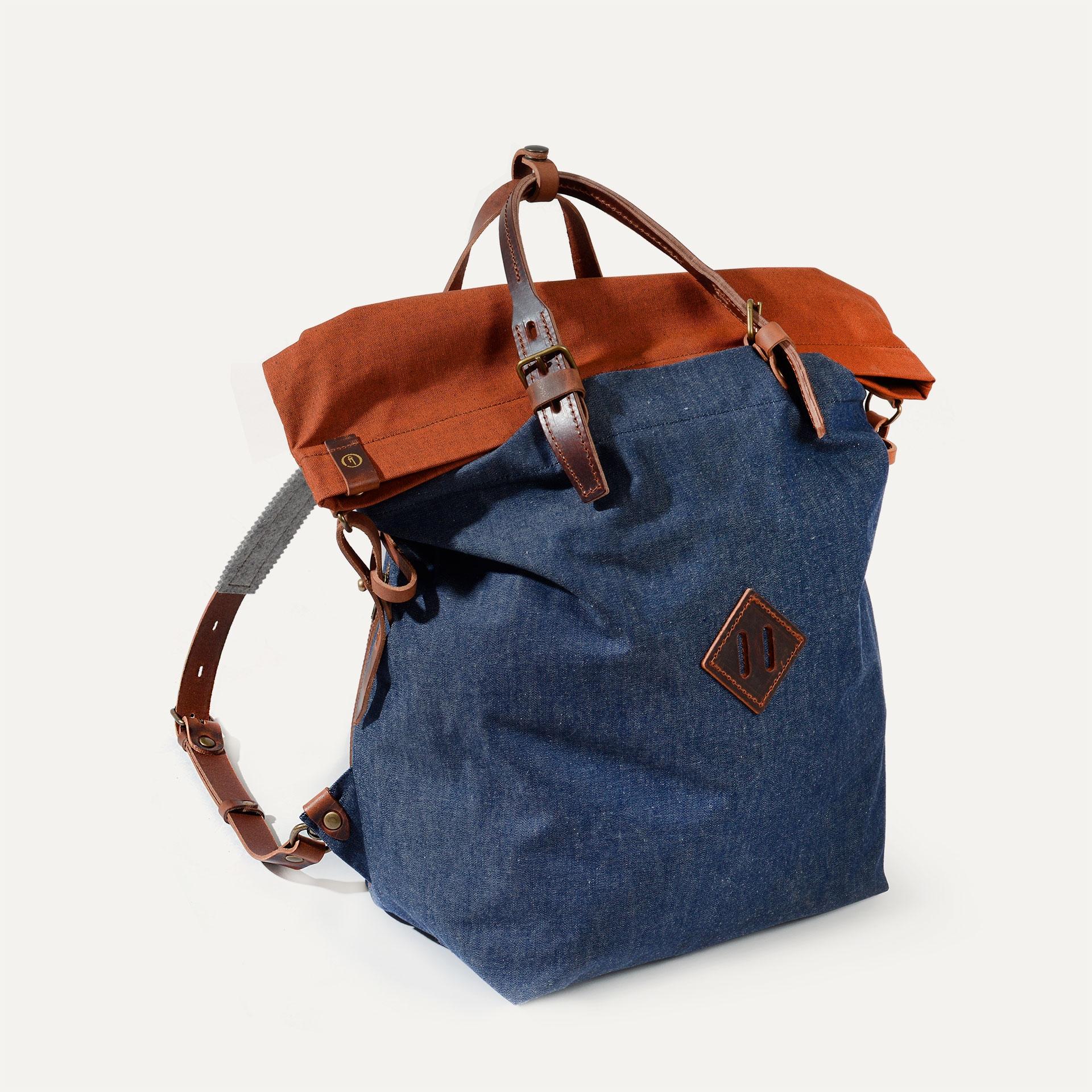 Woody M Backpack - Denim/Terra cotta (image n°2)