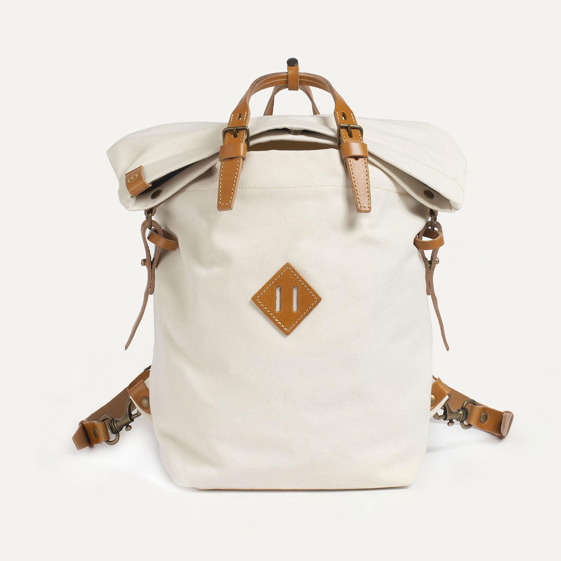 Woody M Backpack - Ecru (image n°1)