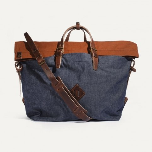 Woody L Backpack - Denim/Terra cotta