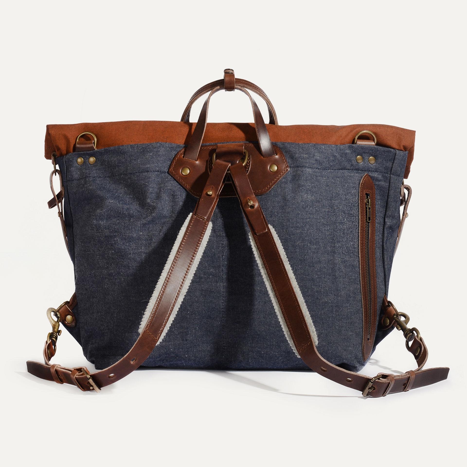Woody L Backpack - Denim/Terra cotta (image n°2)