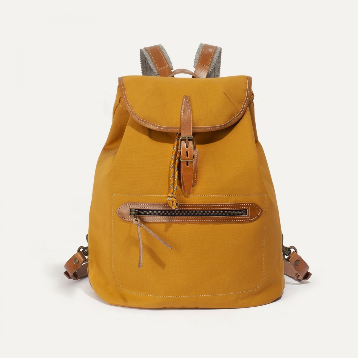 Camp backpack - Yellow ochre (image n°1)