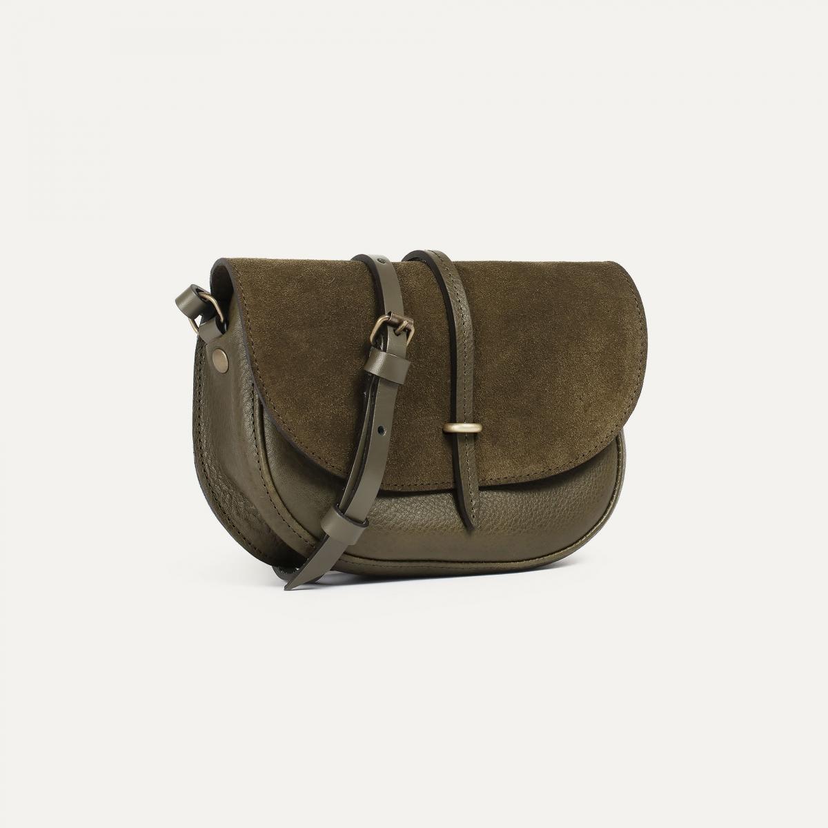 Java mini Postman bag - Khaki / Mix (image n°2)