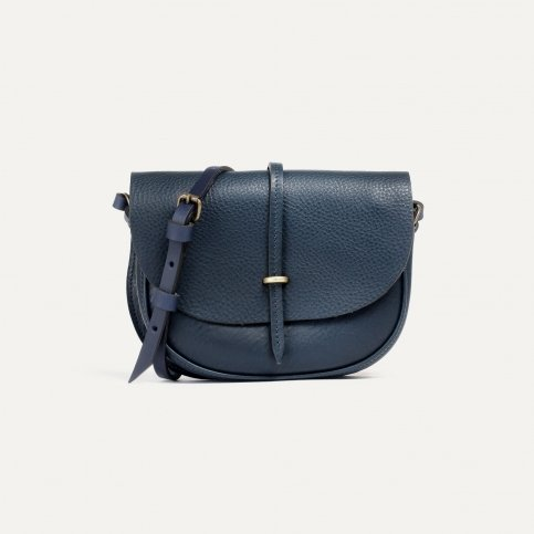 Java mini Postman bag - Navy Blue
