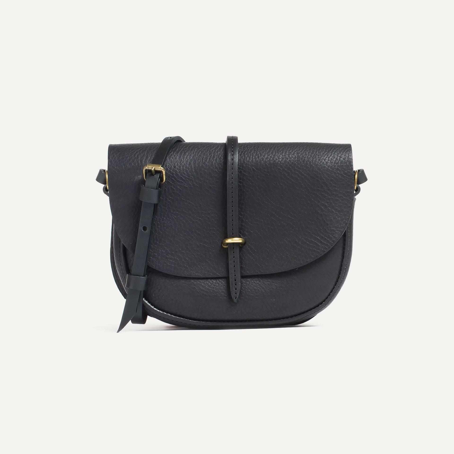Mini sac postier Java - Noir (image n°1)