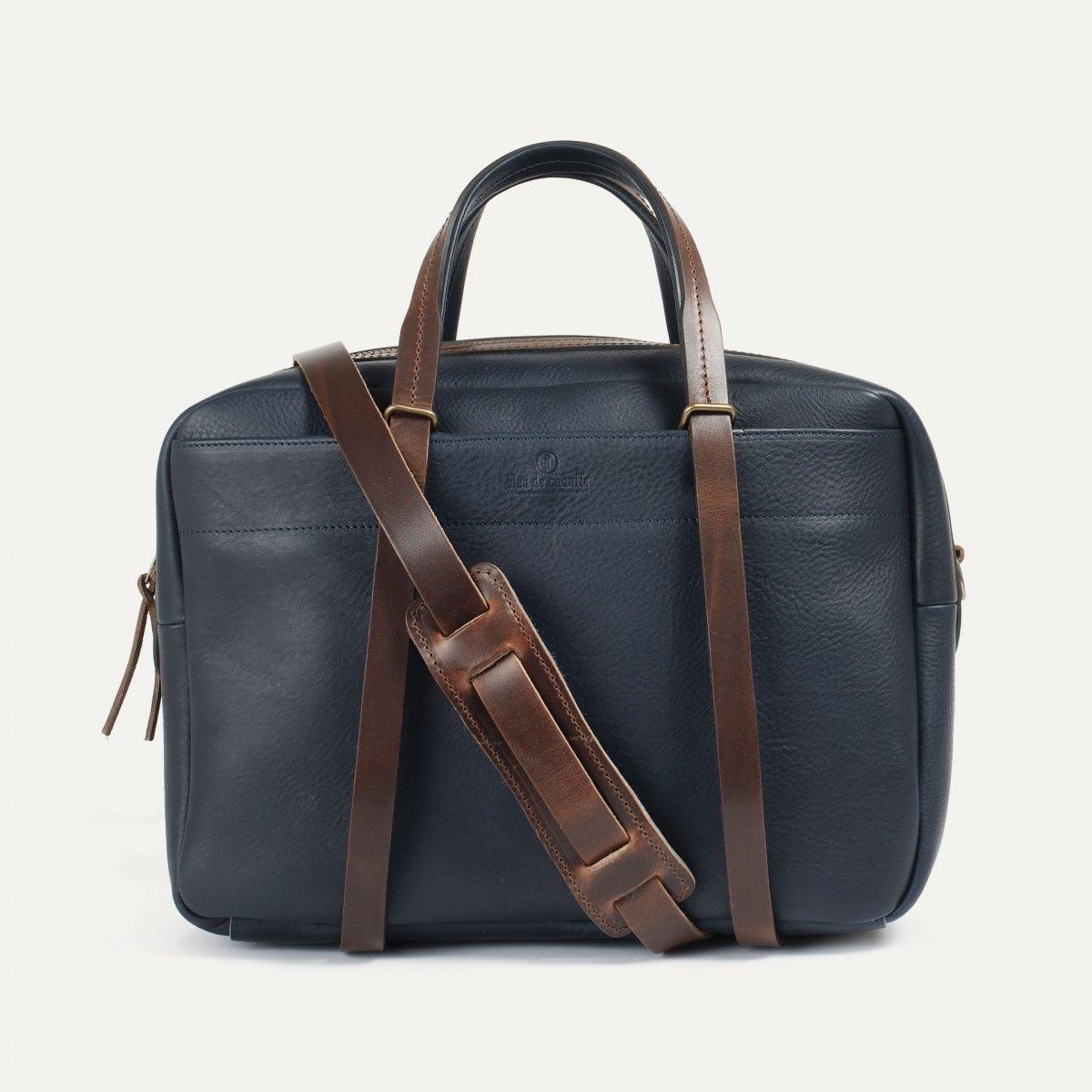 Report Business bag - Navy blue/Pain Brûlé (image n°1)