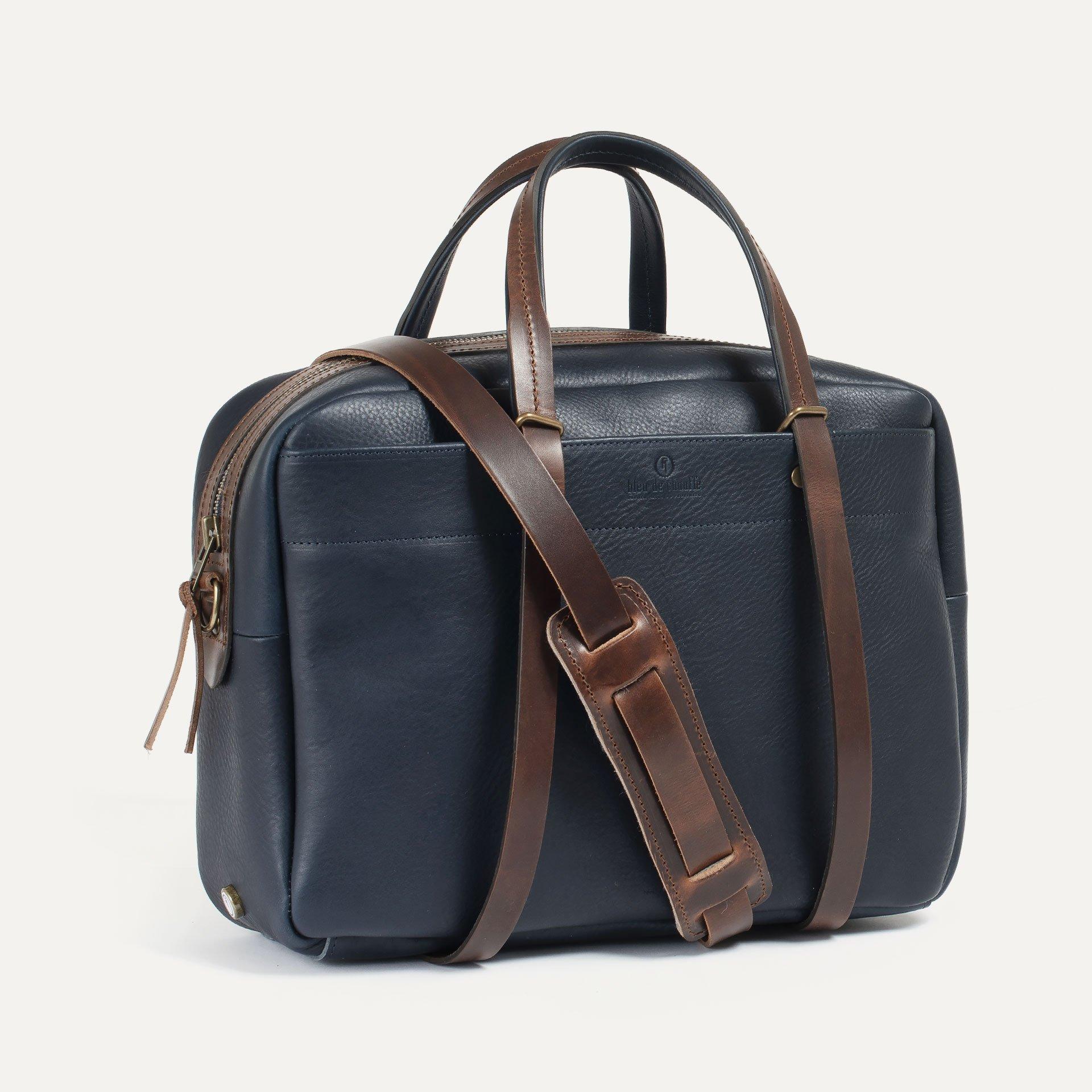 Report Business bag - Navy blue/Pain Brûlé (image n°2)