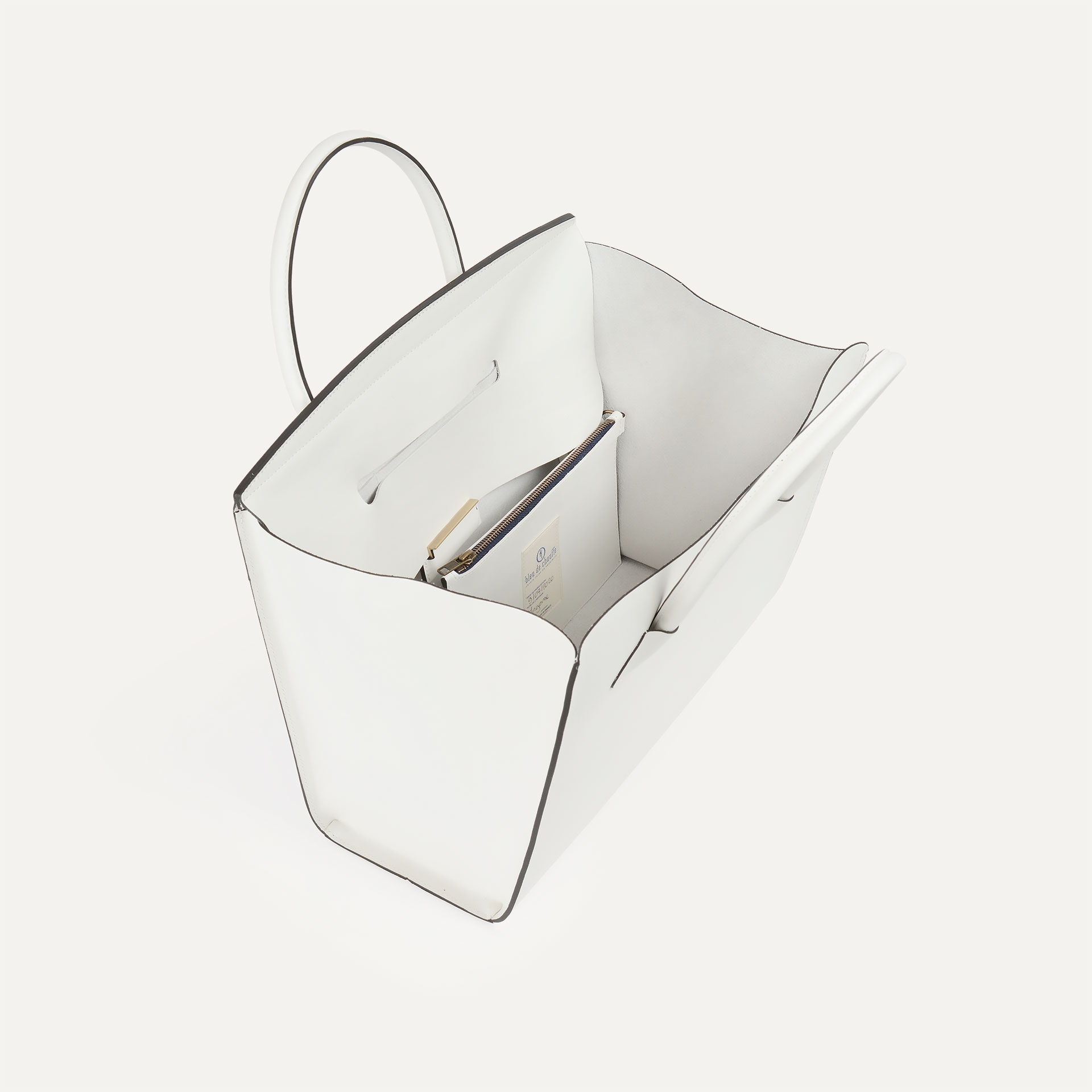 Cabas Origami L - Blanc (image n°3)