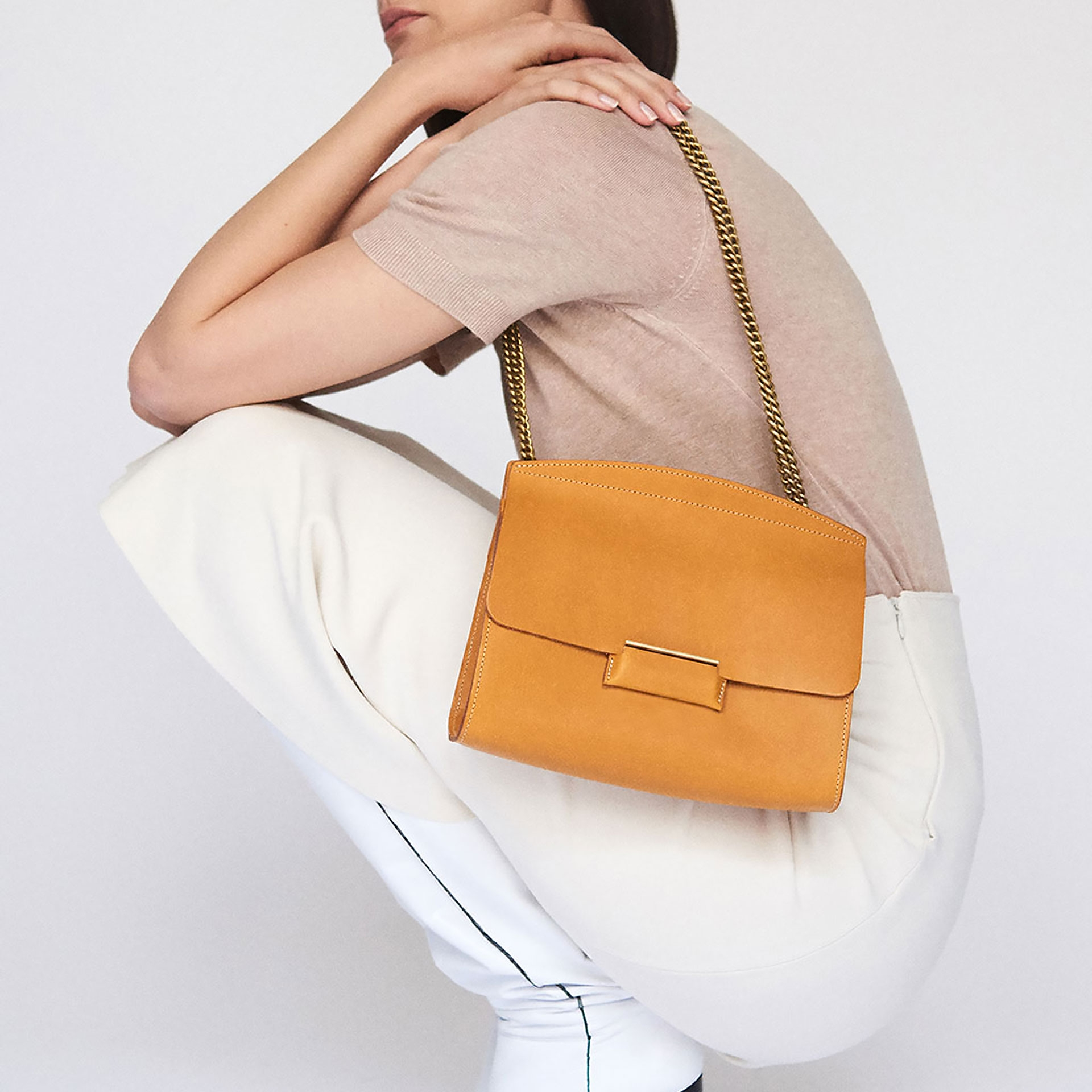 Origami S clutch bag - Honey (image n°5)