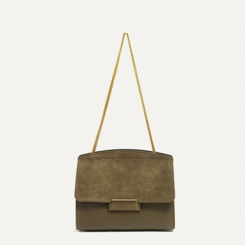 Origami S clutch bag - Khaki