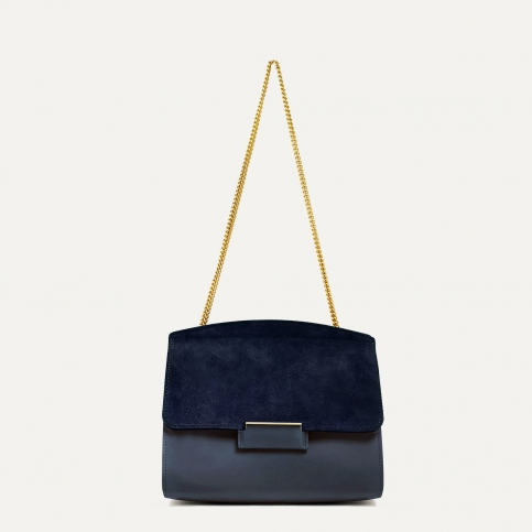 Origami S clutch bag - Marine Blue