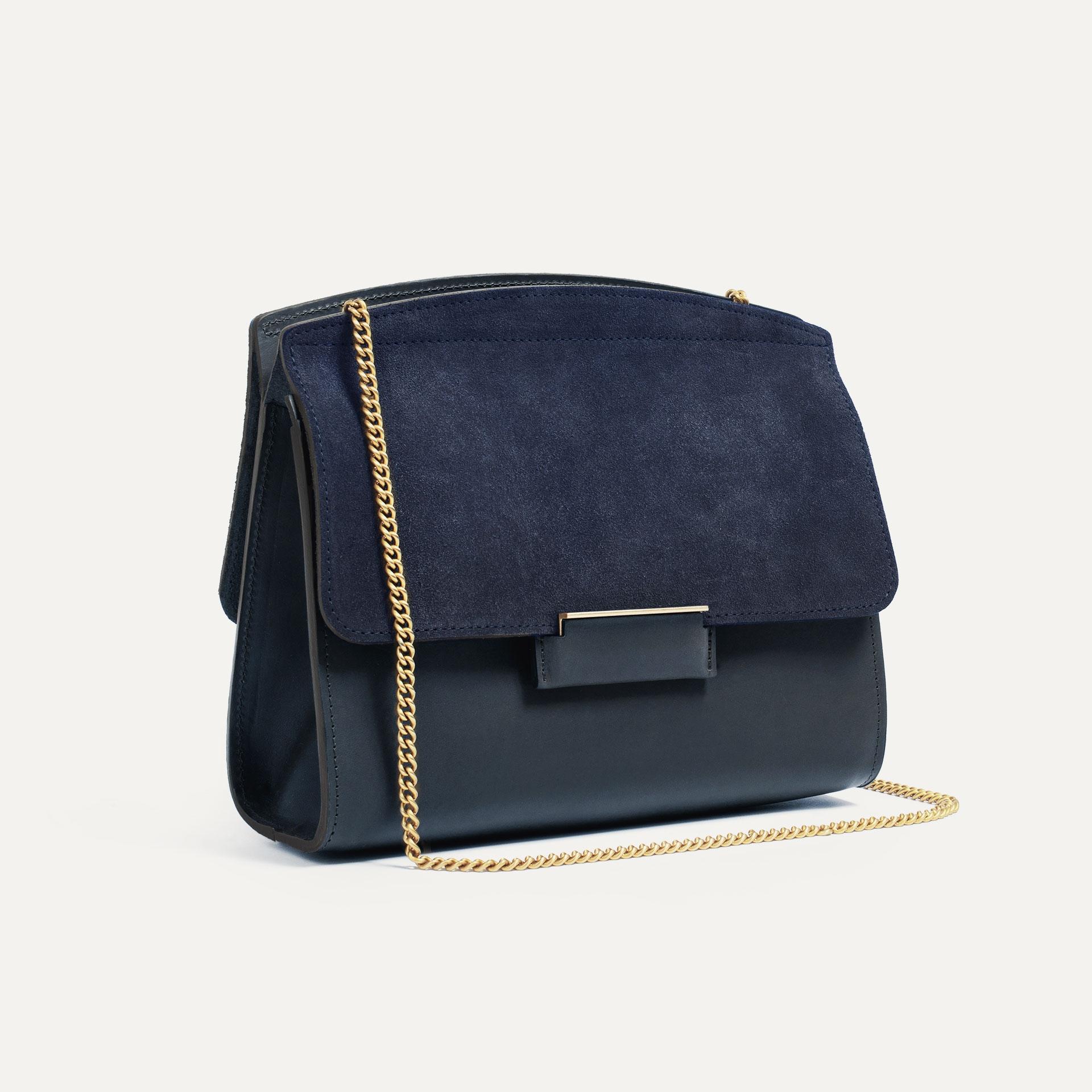 Origami S clutch bag - Marine Blue (image n°3)
