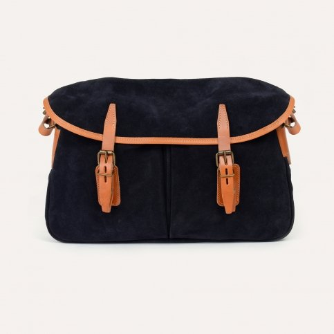 Fisherman's Musette - Navy Blue / Suede