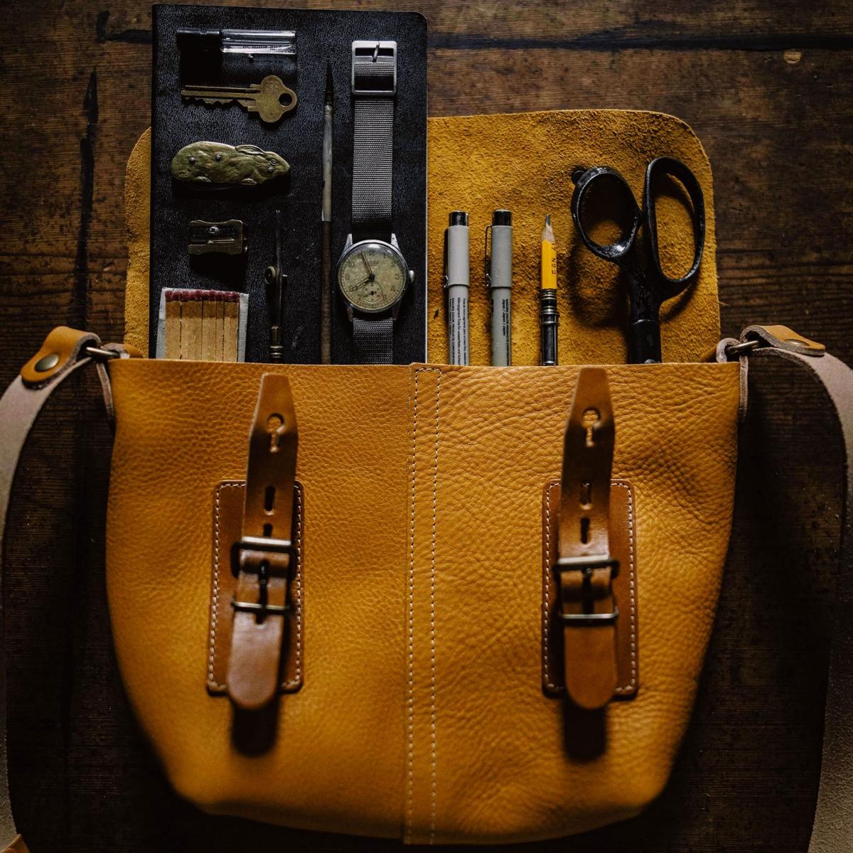 Louis Satchel bag - Peat (image n°5)