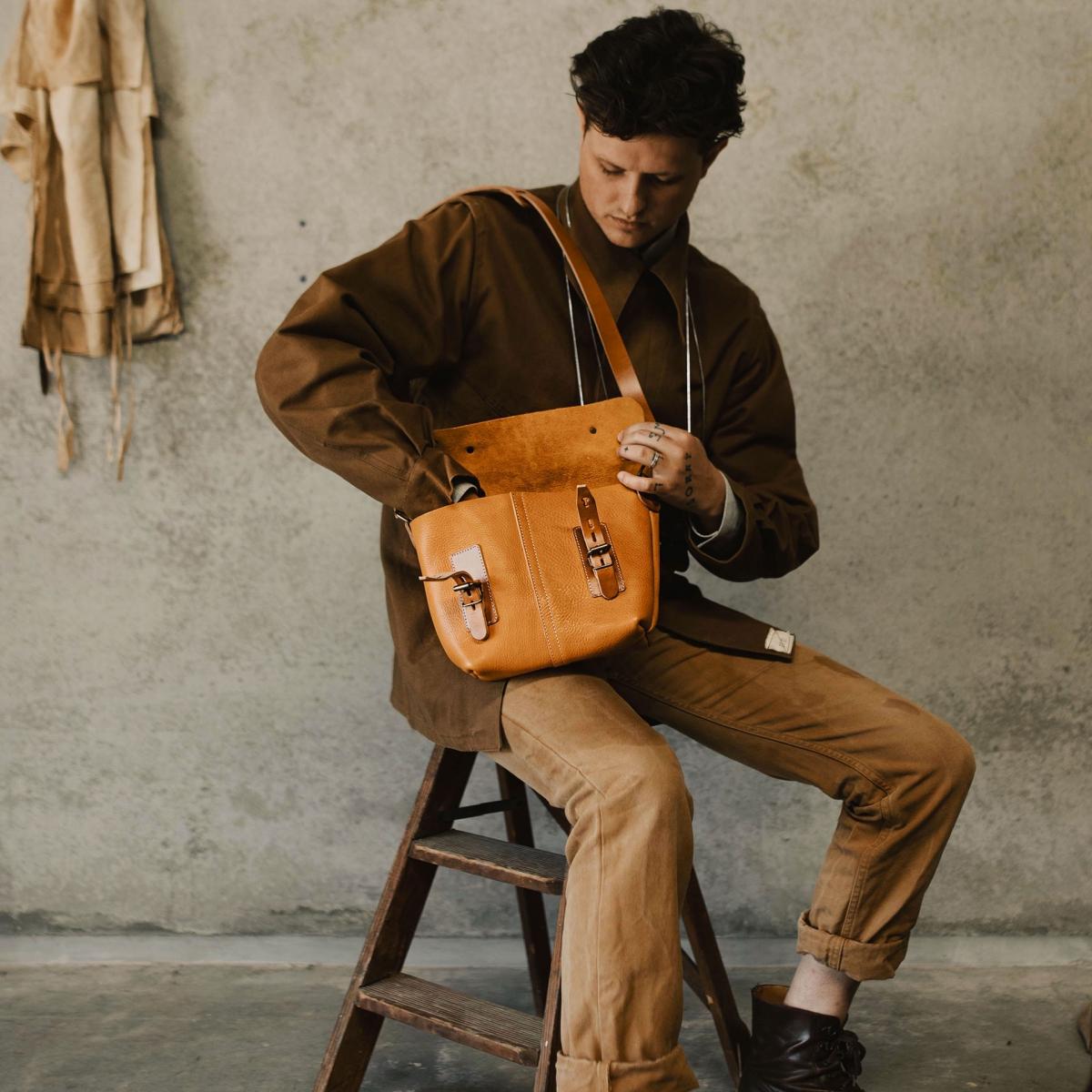 Louis Satchel bag - Peat (image n°6)