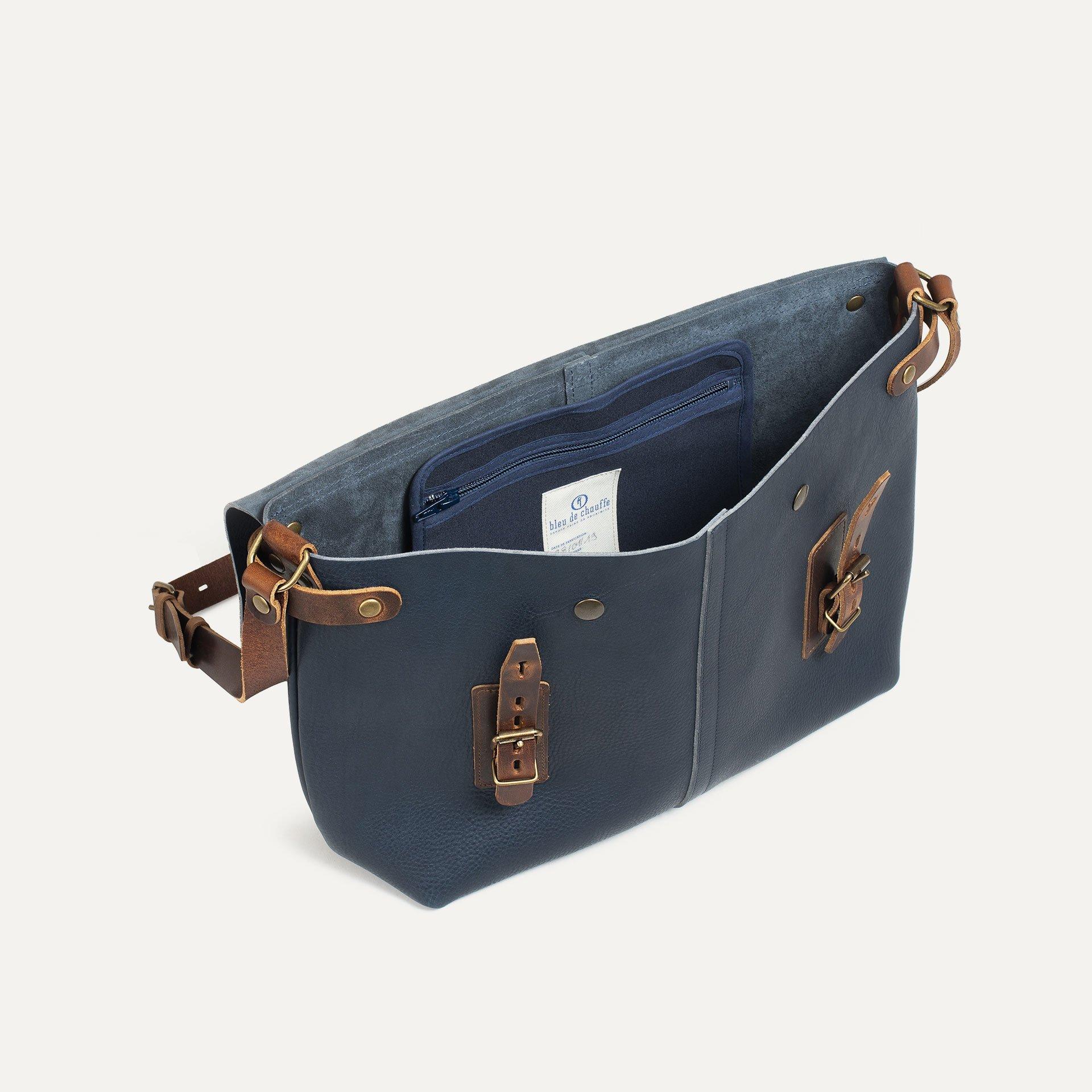 Lucien Satchel bag - Navy Blue (image n°4)