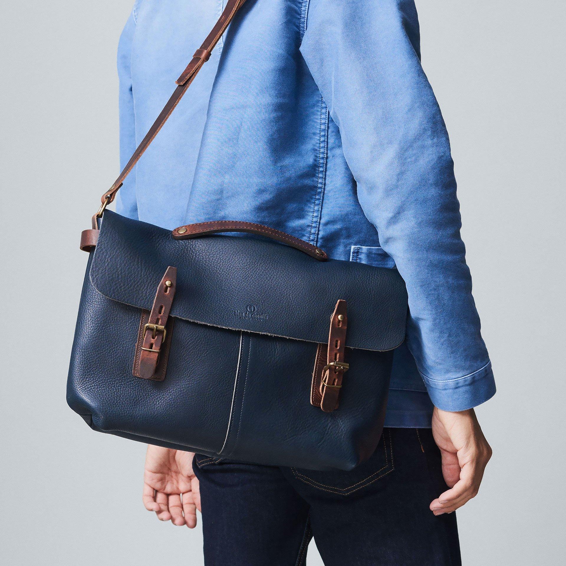 Lucien Satchel bag - Navy Blue (image n°5)