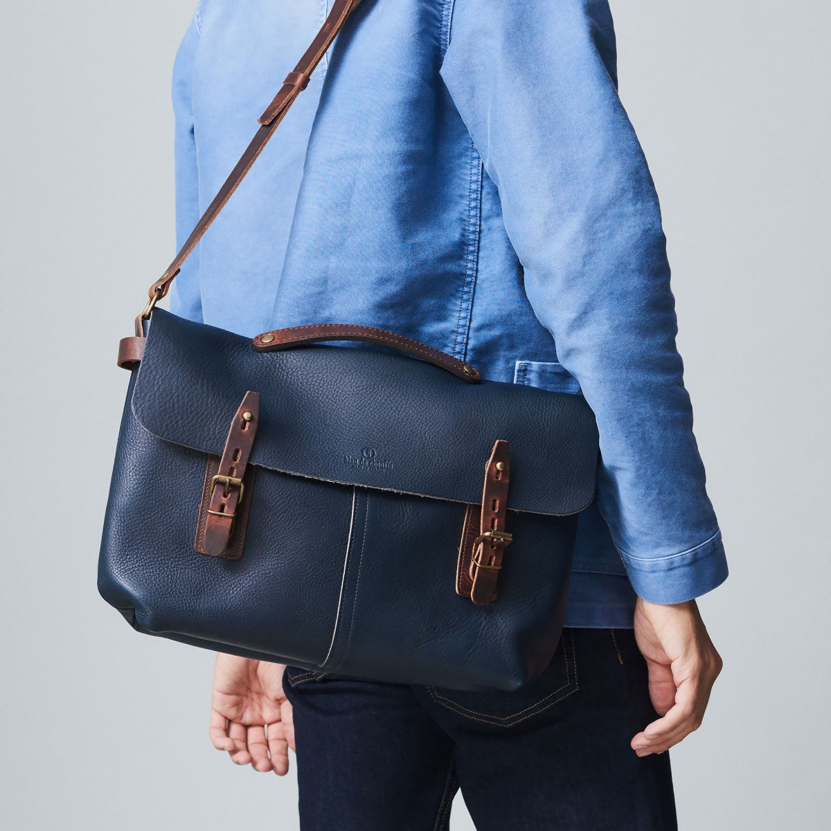 Lucien Satchel bag - Khaki (image n°5)