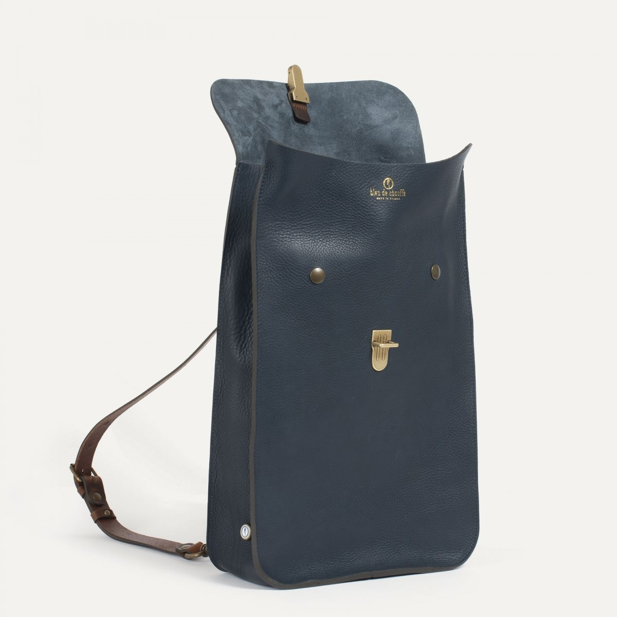 Puncho leather backpack - Navy Blue / E Pure (image n°3)