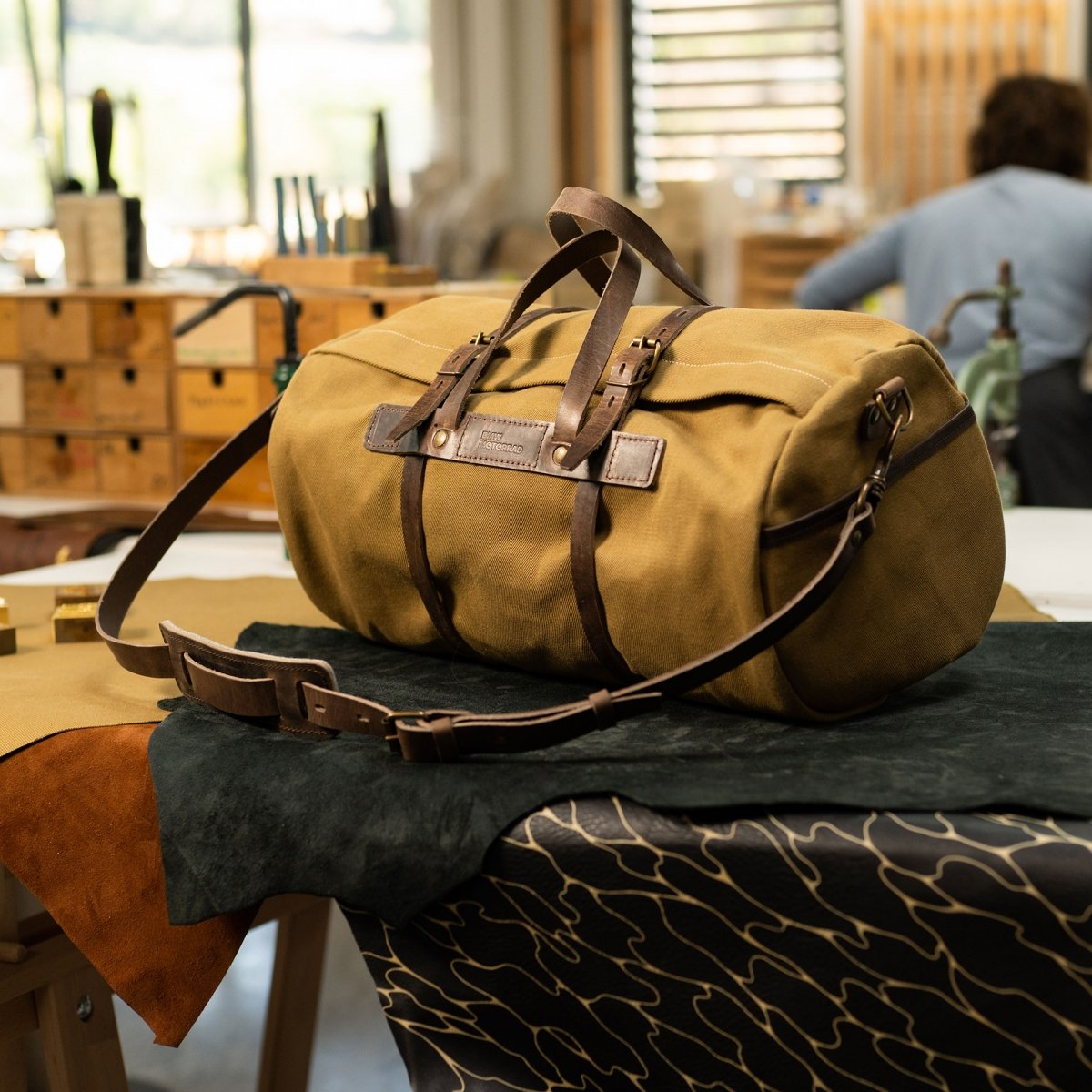 Canvas 'Bivouac' bag – Camel (image n°5)