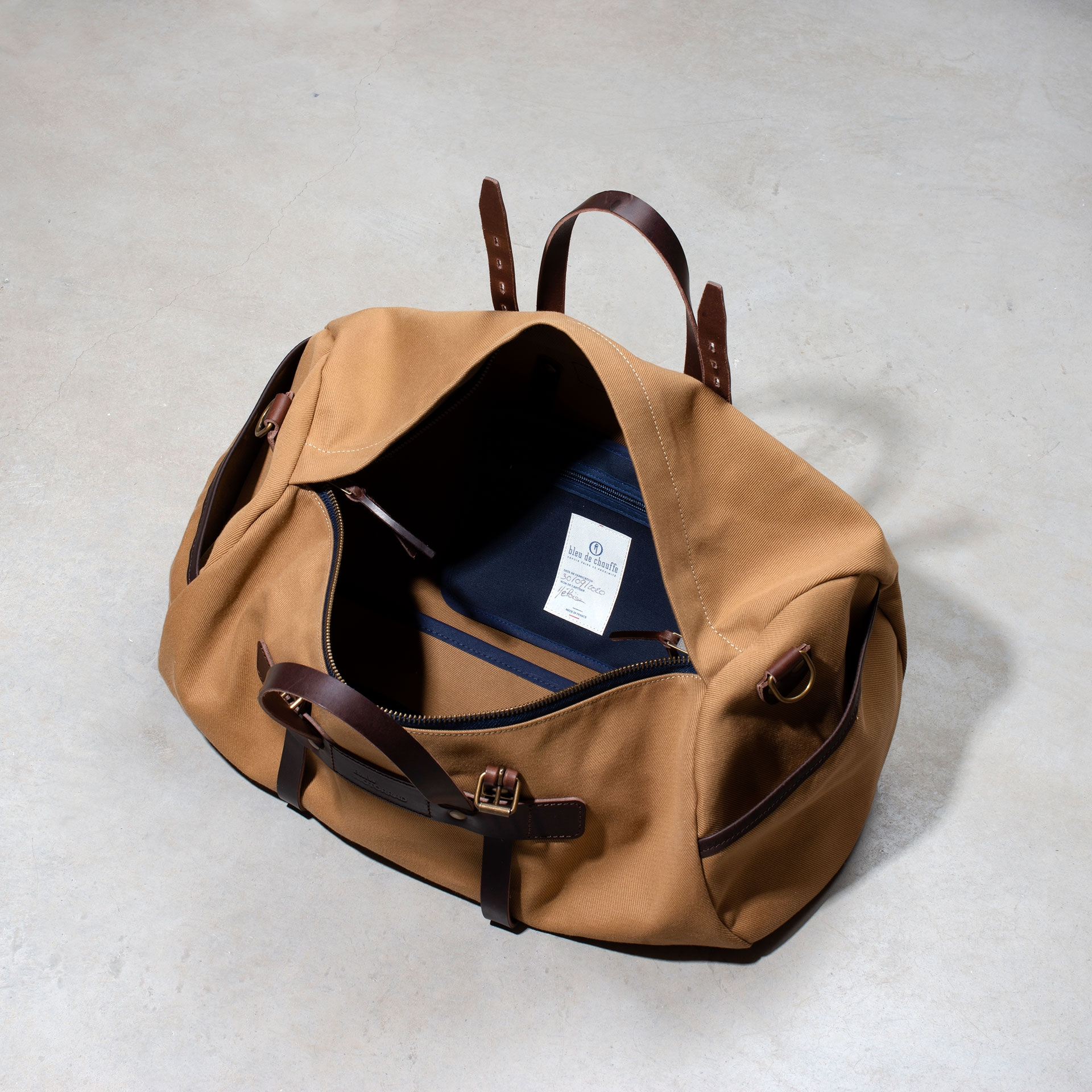 Canvas 'Bivouac' bag – Camel (image n°4)