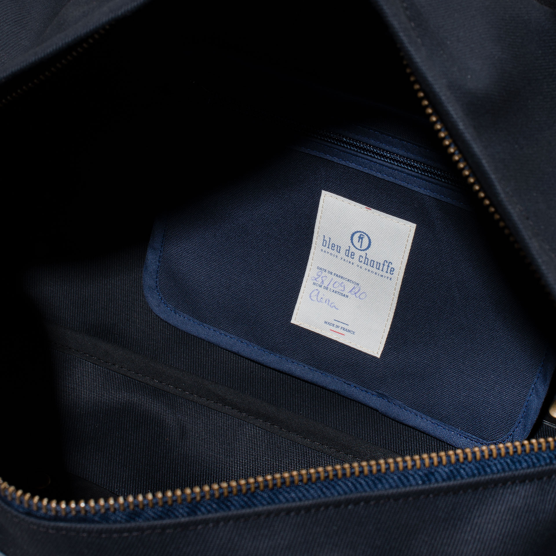 Leather 'Bivouac' bag – Black (image n°4)