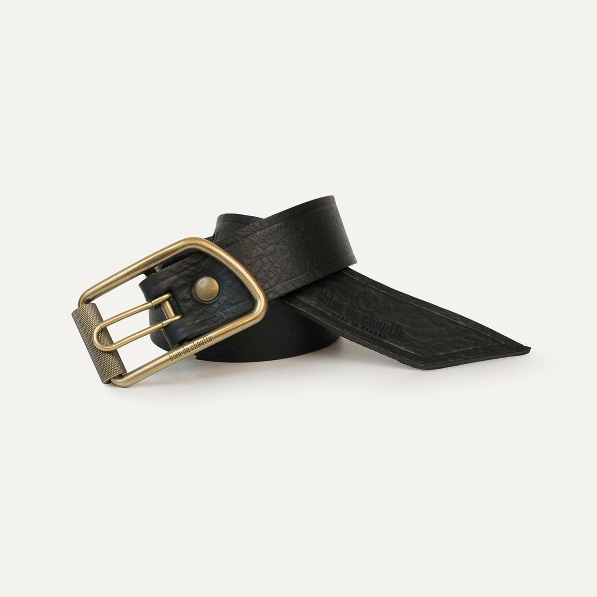 Maillon Belt - Black grained (image n°1)