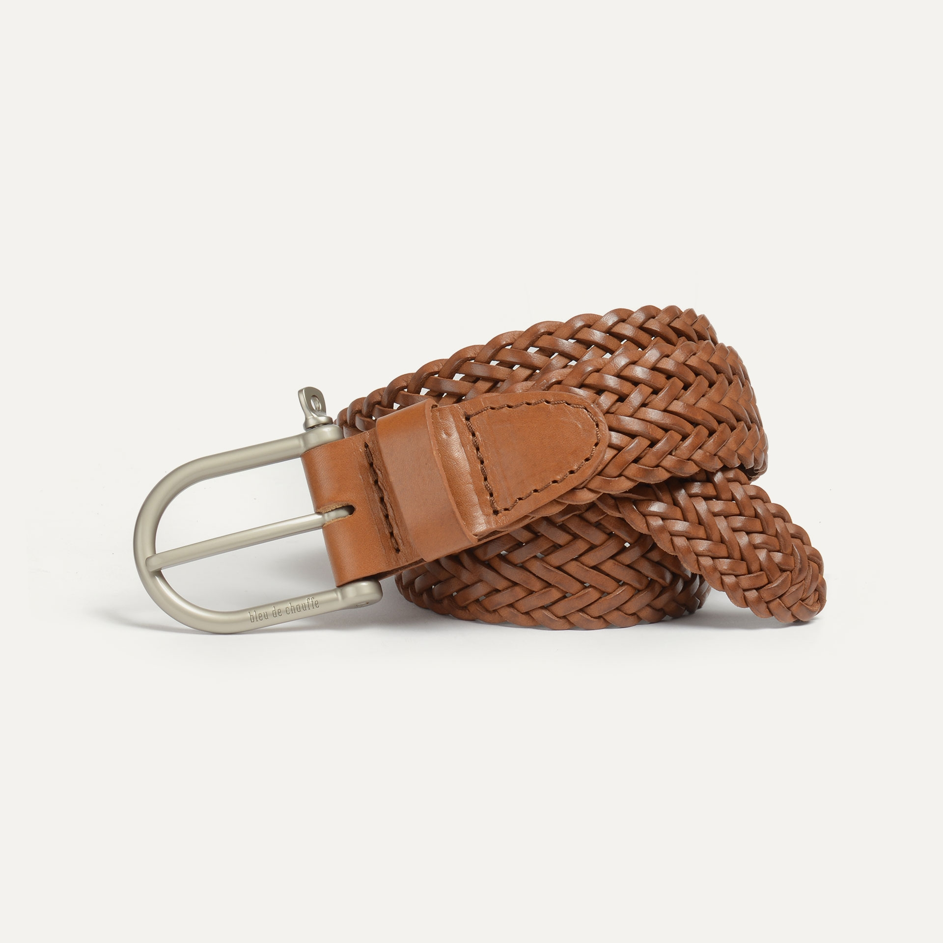 Manille Belt / braided leather - Pain brûlé (image n°1)