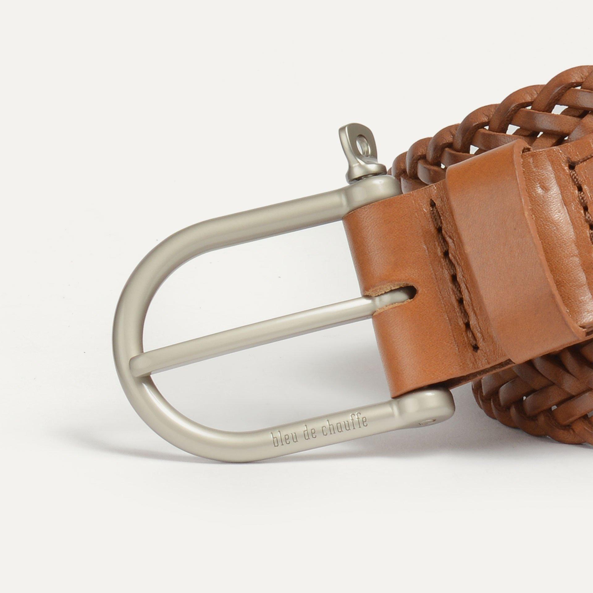 Manille Belt / braided leather - Pain brûlé (image n°2)