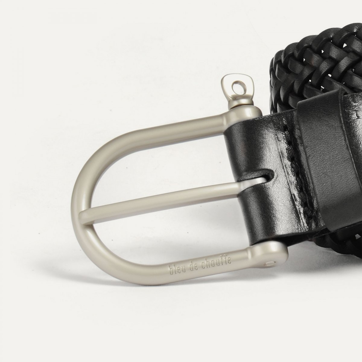 Manille Belt / braided leather - Black (image n°2)