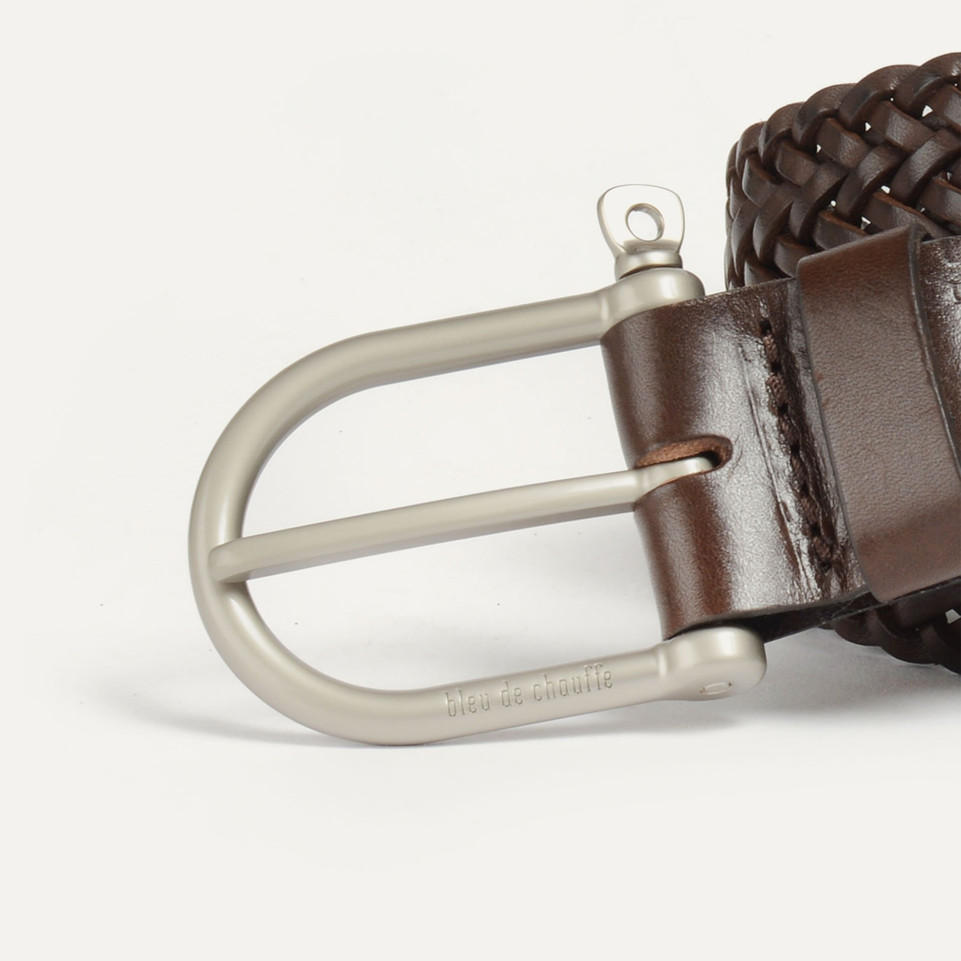 Manille Belt / braided leather - Expresso (image n°2)
