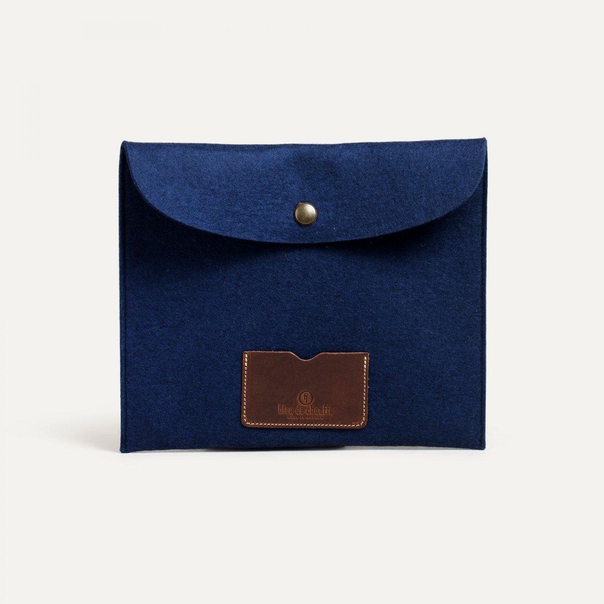 Miky iPad sleeve - Blue Felt (image n°1)