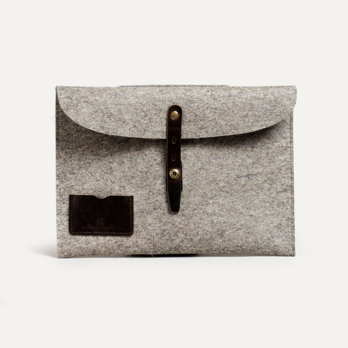 """Misha 13"""" Laptop sleeve - Natural felt (image n°1)"""