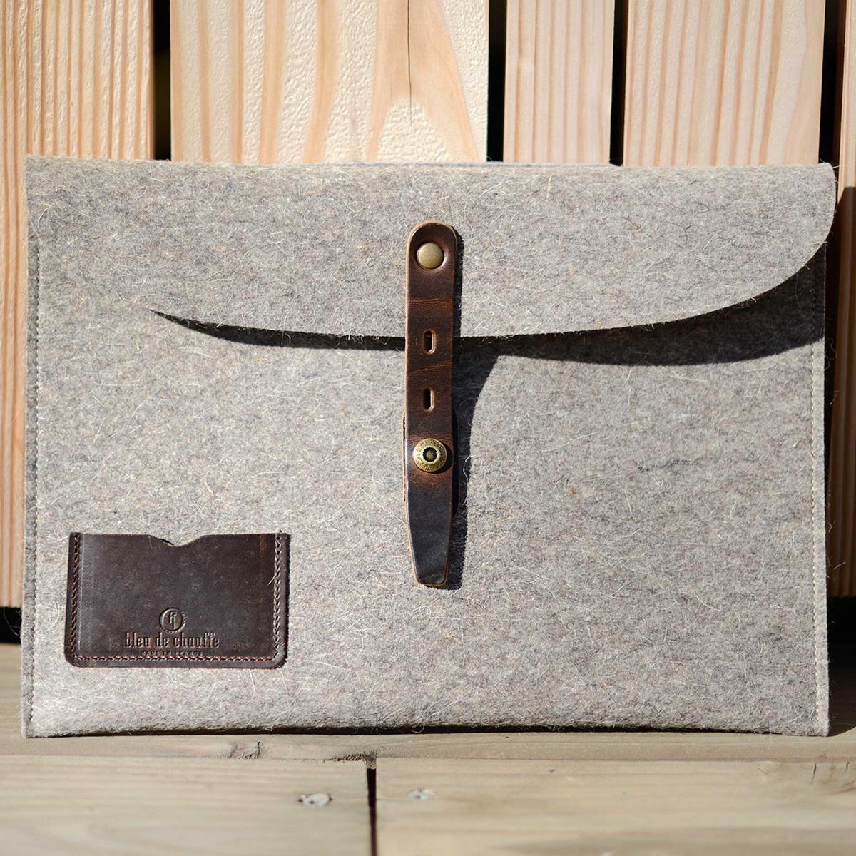"""Misha 13"""" Laptop sleeve - Natural felt (image n°4)"""